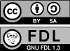 CC-BY-SA and GNU FDL